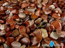 Jaspis ruinowy jasny - 20 otoczaków od 9 do 16 mm