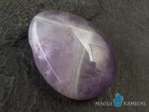 Ametyst w kształcie kropli - kamień  z otworem - wisiorek