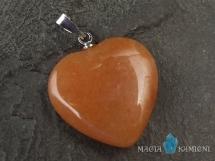 Awenturyn pomarańczowy - zawieszka w kształcie serca