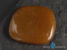 Awenturyn pomarańczowy - płaski kamień do masażu lub oprawy