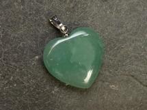 Awenturyn zielony - zawieszka w kształcie serca