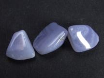Chalcedon niebieski - 3 sztuki - otoczaki