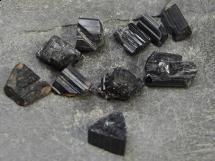 Czarny Turmalin - Schorl, Skoryl - 10 sztuk