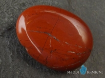 Jaspis czerwony w kształcie kropli - kamień  z otworem -wisiorek
