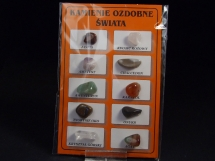 Kamienie ozdobne świata - zestaw 10 kamieni
