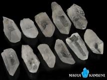 Kryształ górski - monokryształy - 11 sztuk