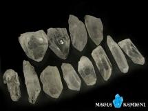Kryształ górski - monokryształy - 12 sztuk