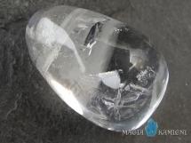 Kryształ górski w kształcie kropli - kamień  z otworem - wisiore