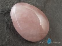 Kwarc różowy w kształcie kropli - kamień  z otworem - wisiorek