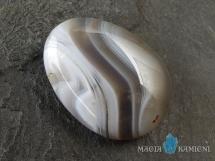 Agat w kształcie kropli - kamień  z otworem - wisiorek