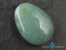 Awenturyn w kształcie kropli - kamień  z otworem - wisiorek