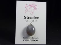 Chalcedon - wisiorek dla znaku zodiaku - Strzelec