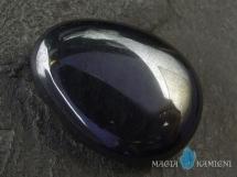 Hematyt w kształcie kropli - kamień  z otworem - wisiorek
