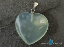 Jadeit - zawieszka w kształcie serca