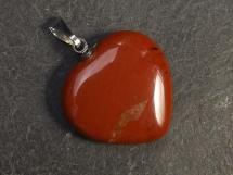 Jaspis czerwony - zawieszka w kształcie serca