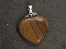Jaspis krajobrazowy - zawieszka w kształcie serca