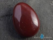 Jaspis mokait w kształcie kropli - kamień  z otworem - wisiorek