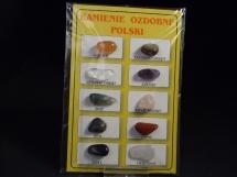 Kamienie ozdobne Polski - zestaw 10 kamieni