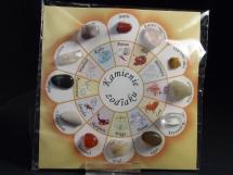 Kamienie zodiaku - zestaw 12 minerałów
