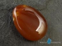 Karneol w kształcie kropli - kamień  z otworem - wisiorek