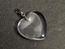 Kryształ górski - zawieszka w kształcie serca