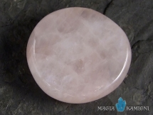 Kwarc różowy - płaski kamień do masażu lub oprawy