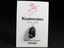 Onyks - wisiorek dla znaku zodiaku - Koziorożec