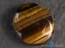 Tygrysie oko - płaski kamień do masażu lub oprawy
