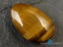 Tygrysie oko w kształcie kropli - kamień  z otworem - wisiorek